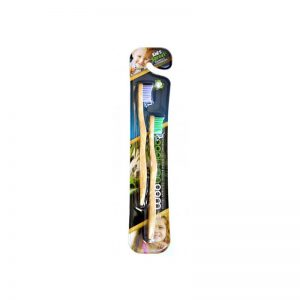 WooBamboo Eco Friendly Kids Toothbrushes - twin pack